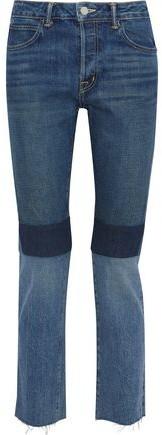 Helmut Lang Cropped Patchwork Mid-rise Slim-leg Jeans