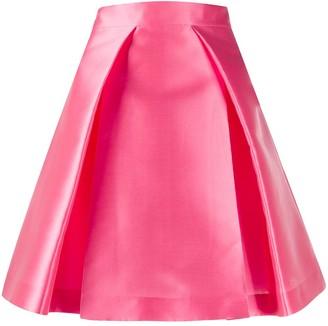 Alberta Ferretti A-line pleated skirt