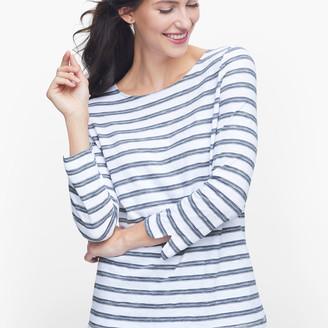 Talbots Stripe Twist Back Tee