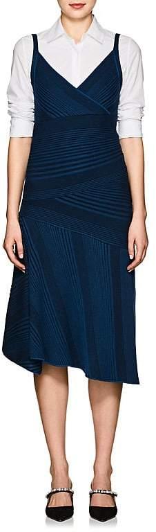 Cédric Charlier Women's Rib-Knit Wool A-Line Midi-Dress