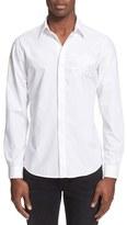 Just Cavalli Men's Trim Fit Embroidered Eagle Sport Shirt