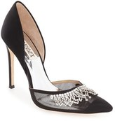 Badgley Mischka Women's 'Genna' Embellished D'Orsay Pump