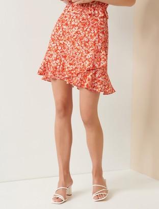 Forever New Giselle Mini Ruffle Skirt - Scarlet Ditsy - 4