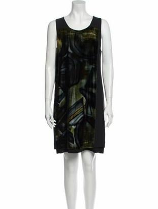 I'M Isola Marras Printed Mini Dress Black