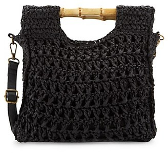 Marabelle Braided Straw Crossbody Bag