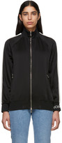 Moncler Black Satin Zip-Up Jacket