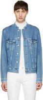 Acne Studios Indigo Denim Who Fray Jacket