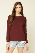 Forever 21 FOREVER 21+ Lace-Up Pullover
