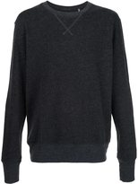"ATM Anthony Thomas Melillo Ultra comfortable french terry crew neck sweatshirt, with ribbed waistband and arm cuffs, and ""v"" stitching at necklin..."