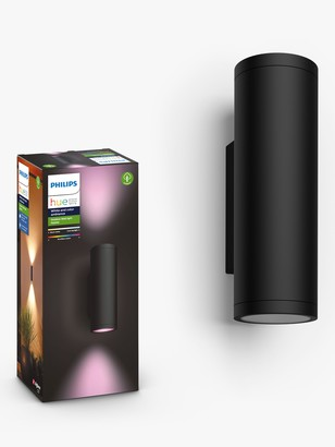Philips Hue White and Colour Ambiance Appear LED Outdoor Wall Light, Black