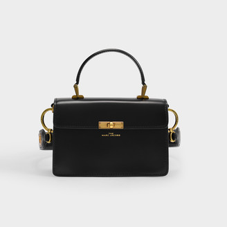 MARC JACOBS, THE The Downton Bag In Black Leather With Polyurethane Coating