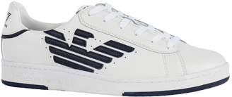 Giorgio Armani Ea7 Eagled Embroidered Sneakers