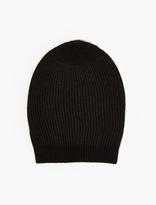 Rick Owens Black Cashmere Beanie Hat