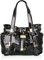 Michael by Michael Kors Black Beverly Moc Croc Shopper