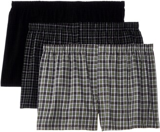Hanes Men's 3-Pack Woven Boxers-Big Sizes