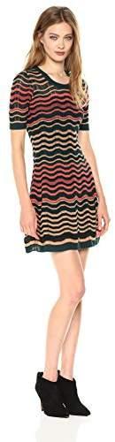M Missoni Women's Colorful Greek Key Dress