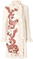 Gucci coat with embroidered dragons