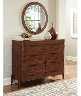 Corrigan Studio Cobbs Mule 8 Drawer Double Dresser with Mirror