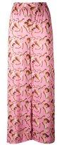 Giorgia Fiore - doll print trousers - women - Cotton - 42
