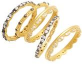 Freida Rothman Women's Set Of 5 Stack Rings