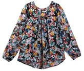 Ella Moss Floral Printed Peasant Top (Big Girls)