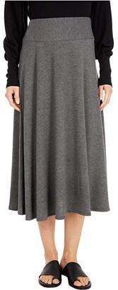 Michael Stars Tahoe Jersey Maude Flared Skirt (Black) Women's Skirt