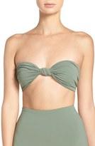 Mara Hoffman Women's Knot Front Bandeau Bikini Top