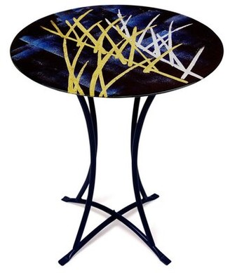 Jasmine Art Glass End Table