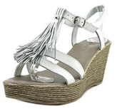 Azura Romance Women Open Toe Leather Wedge Sandal.