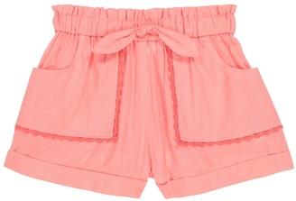 Zimmermann Kids Poppy cotton voile shorts