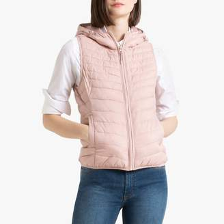 Only Padded Hooded Gilet with Pockets