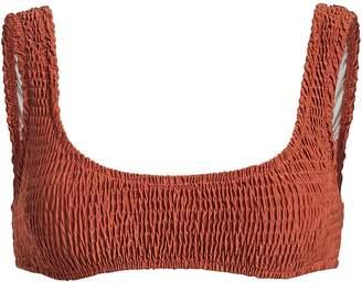 Solid & Striped Penny Smocked Bikini Top