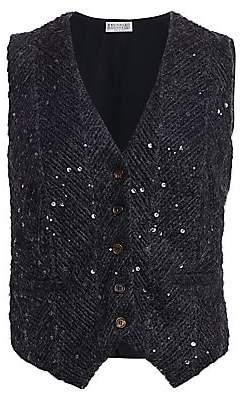 Brunello Cucinelli Women's Knit Paillette Vest