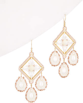 Miguel Ases 14K Filled 3-8Mm Mother-Of-Pearl & Pearl Earrings