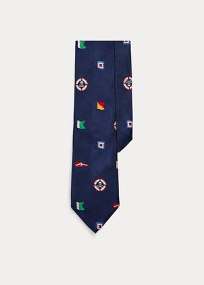 Ralph Lauren Nautical Flag Silk Tie