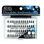Ardell (6 Pack Professional Double Individuals Knot-Free Double Flares - Medium Black
