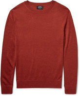 A.p.c. - Nick Merino Wool And Silk-blend Sweater