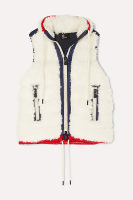 Moncler Shell-trimmed Shearling Vest - Off-white