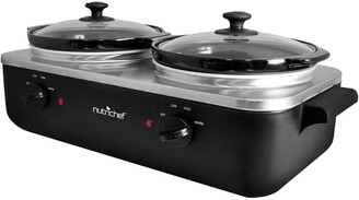 Nutrichef Dual Pot Electric Slow Cooker
