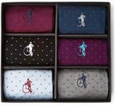London Sock Co. - Spot of Style Six-Pack Stretch Cotton-Blend Socks