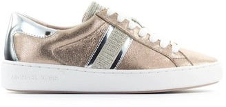 Michael Kors Keaton Stripe Rose Gold Sneaker