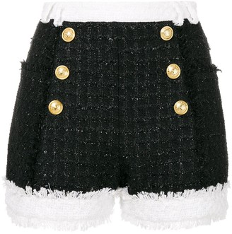 Balmain Tweed Double Breasted Shorts