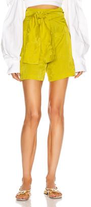 Silvia Tcherassi Limoncello Short in Golden Lime | FWRD
