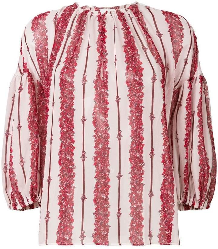 Giambattista Valli front striped loose blouse