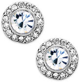 Lauren Ralph Lauren Silver-Tone Glass Stone and Crystal Clip-On Stud Earrings