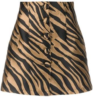 Andamane Erin zebra-print skirt