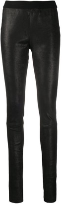 Ann Demeulemeester Skinny Leather Trousers