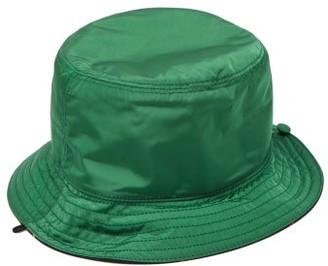 Gucci Web Stripe-lined Nylon Bucket Hat - Womens - Green