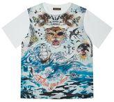 Roberto Cavalli All-Over Print Sea Graphic T-Shirt