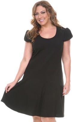 White Mark Plus Size Fit & Flare Dress